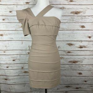 New! Black Halo Women's Body Con Dress Size 0 Tan